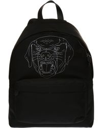 Givenchy Rottweiler Head Printed Backpack - Black