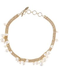 Lanvin - Glass Pearls Necklace - Lyst
