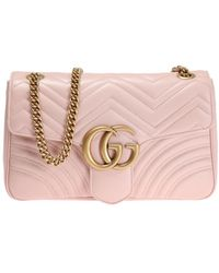 061c0b485c5 Lyst - Gucci Gg Marmont Mini Chain Bag in Pink