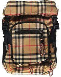 2b79676e8443 Burberry - Checked Backpack - Lyst