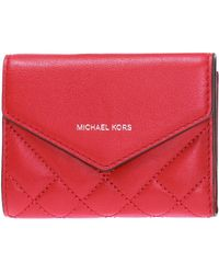 e773b712bddf Michael Kors - Quilted Wallet With Logo - Lyst