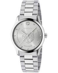 6e08a22008b Gucci Ya126457 Men s G-timeless Date Bracelet Strap Watch in Black ...