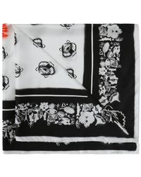 KENZO - Shawl With Tiger's Heads - Lyst