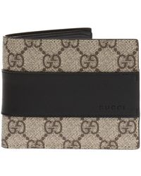 8c22e7c2da30 Gucci Bengal Gg Supreme Wallet in Natural for Men - Lyst