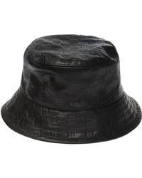 a9aa15e1e3fa Lyst - Gucci Trilby Hat with Embossed Gucci Trademark in Black for Men