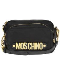 8ba40d93b193a Moschino Logo Small Nylon Bucket Bag Red in Red - Lyst