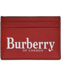 Burberry - Card Case With Logo - Lyst