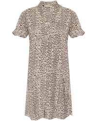 AllSaints - 'fay' Leopard-printed Dress - Lyst