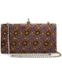 Vivienne Westwood - Large Parma Clutch Bag 131248 Purple/black - Lyst