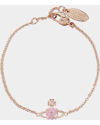 Vivienne Westwood - Reina Small Bracelet Pink Gold - Lyst