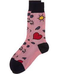Vivienne Westwood - Pink Heart And Eye Socks - Lyst