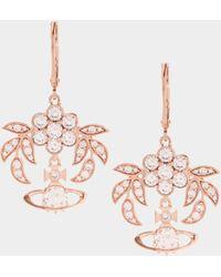 Vivienne Westwood - Amma Drop Earrings Pink Gold - Lyst