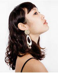 Modern Weaving - Lobe Chandelier Earrings - Lyst
