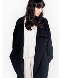Black Crane - Dual Canvas Coat / Black - Lyst