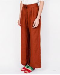 First Rite - Wide Trousers / Rust - Lyst
