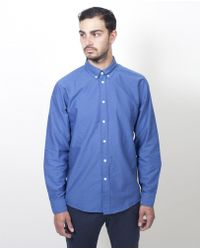 Soulland - Goldsmith Shirt / Indigo Blue - Lyst