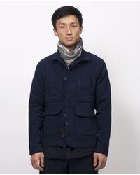 Apolis - Indigo Wool Chore Jacket - Lyst