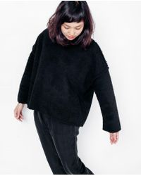Priory Of Ten - Que Jumper / Sherpa Black - Lyst