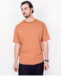 Still By Hand - Ringer T-shirt / Brick - Lyst