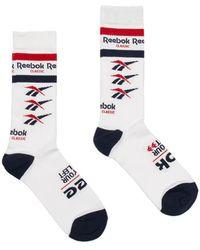 Reebok - Logo Socks - Lyst