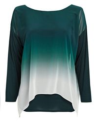 Wallis - Green Ombre Layered Top - Lyst