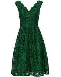 Wallis - **jolie Moi Green V-neck Prom Dress - Lyst