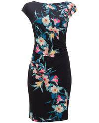 Wallis - Black Tropical Fern Shift Dress - Lyst