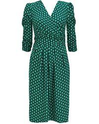 Wallis - **jolie Moi Green Print Dress - Lyst