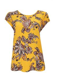 Wallis - Ochre Paisley Print Shell Top - Lyst