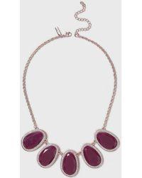 Wallis   Purple Stone Collar Necklace   Lyst