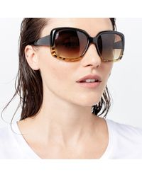 Warehouse - Square Glam Tort Sunglasses - Lyst