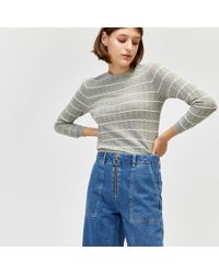 Warehouse - Stripe Wave Stitch Jumper - Lyst
