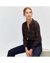 Warehouse - Oversized Check Shirt - Lyst