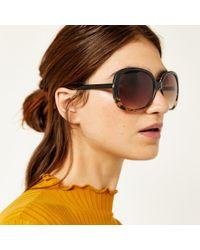 Warehouse - Glam Square Tort Sunglasses - Lyst