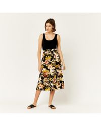 Warehouse - Hibiscus D-ring Skirt - Lyst