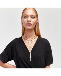 Warehouse - Snake Multi-row Necklace - Lyst