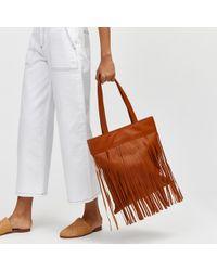 Warehouse - Leather Fringe Shopper - Lyst