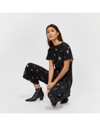 Warehouse - Floral Press Print Jumpsuit - Lyst