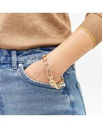 Warehouse - Textured Link T-bar Bracelet - Lyst