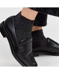 Warehouse - Glitter Rib Socks - Lyst