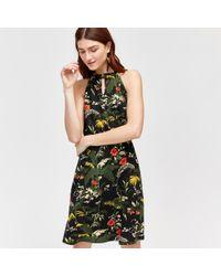 Warehouse - Tropical Leaf Maxi Dress - Lyst