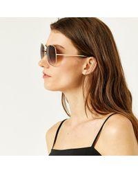 Warehouse - Square 70s Sunglasses - Lyst