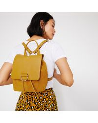 Warehouse - Mini Suede Backpack - Lyst