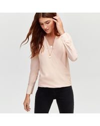 Warehouse - Dobby Wrap Front Top - Lyst