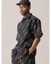OVERR - [unisex] Basic Logo Black Shirt - Lyst