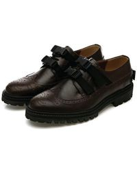 DEMIHAND - Buckle Wing-tip Dark Brown - Lyst