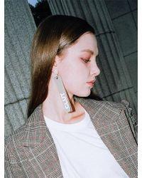 CLUT STUDIO - 1 0 Unbalance Stone Earrings - Beige - Lyst