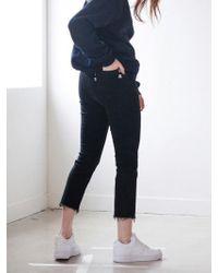 TARGETTO - 372 Denim Trousers Black - Lyst