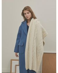 among - A Cable Knit Shawl - Lyst