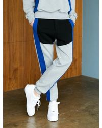 BONNIE&BLANCHE - Sporty Line Sweatpants Gray - Lyst